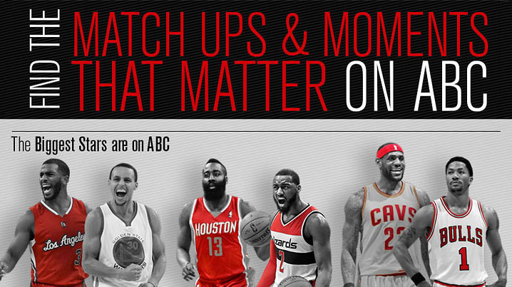 Find The NBA Match Ups and Moments That Matter on ABC