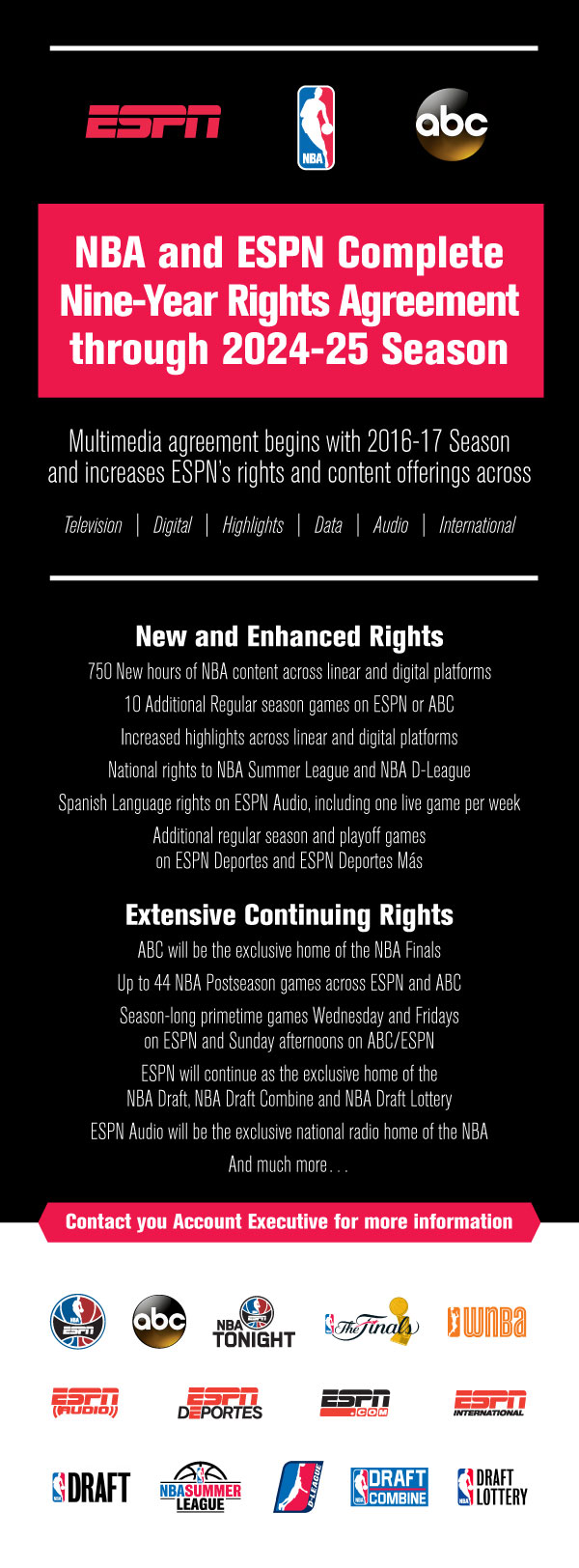 ESPNCMS Stream - NBA and ESPN Complete Nine-Year Rights Agreement Through 2024-25 Season