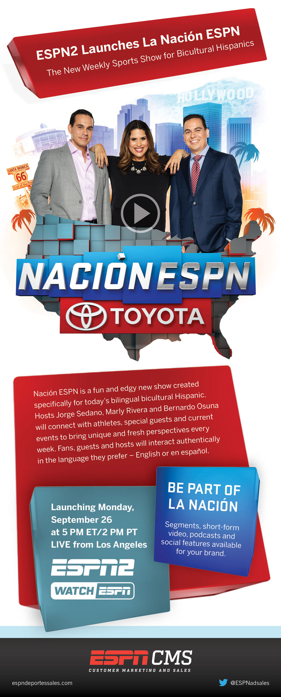 ESPNCMS Stream - 2016 ESPN2 Launches La Nacion