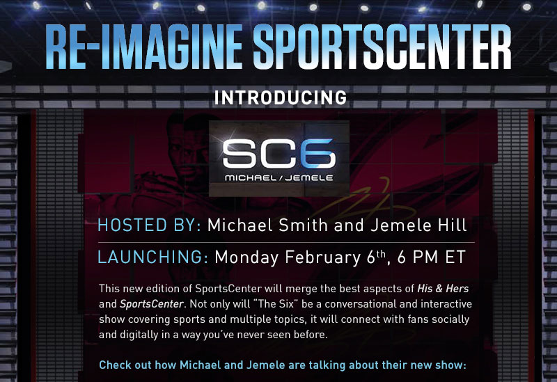 ESPNCMS Stream - Re-Imagine SportsCenter | Introducing SC6