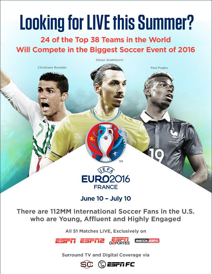 ESPNCMS Stream - Euro 2016 | Looking for LIVE this Summer?